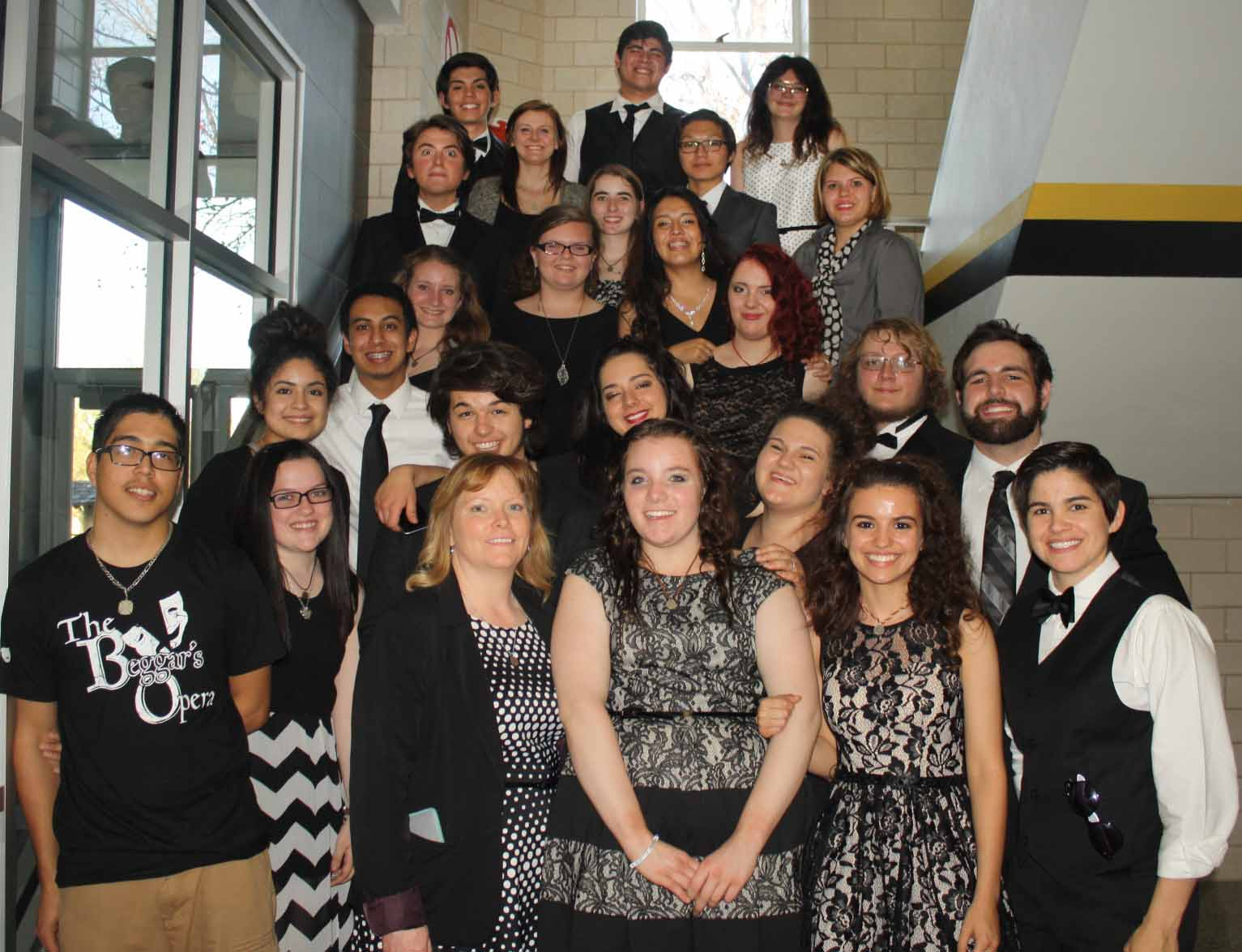 The One Act Play group before awards.