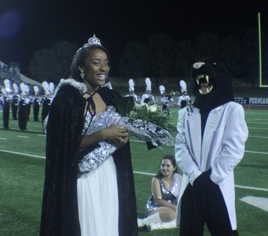 The 2014 Homecoming Queen was Senior Miah Nelson. She received her crown during half-time of the Permian-Lubbock Coronado game. Photo by Beau Roland.