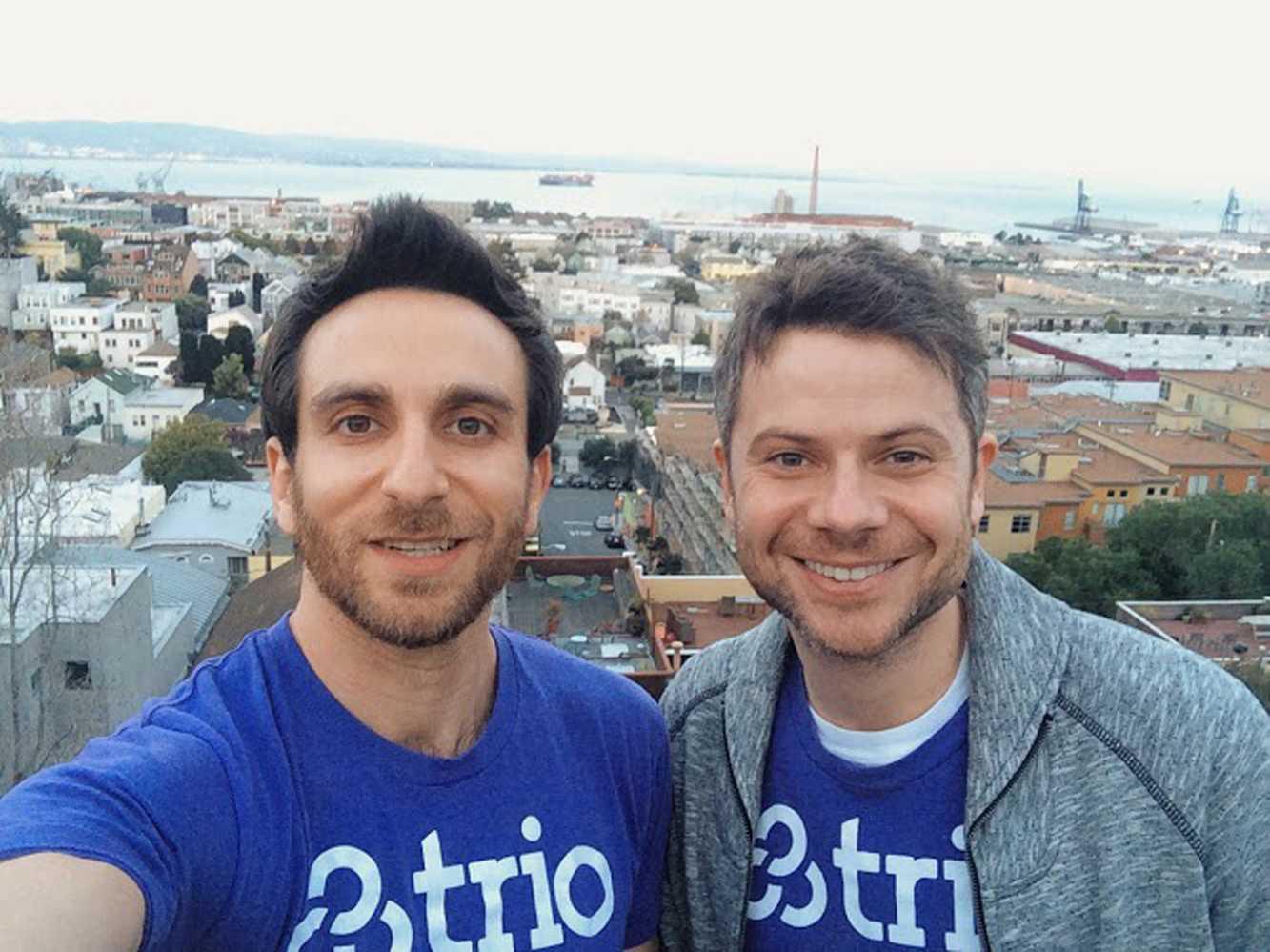 Trio founders CEO Misha Leybovich and CTO Clay Garrett.
